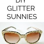 DIY glitter sunglasses tutorial