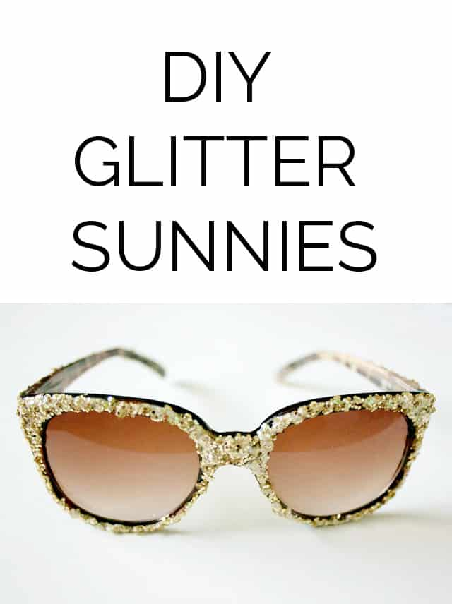 DIY glitter sunglasses