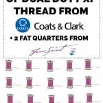 Coats + Clark: 50 spools of thread giveaway!