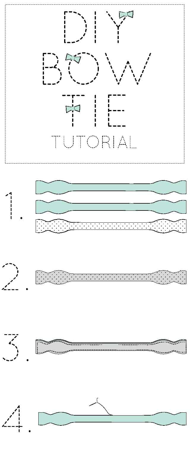MAKE YOUR OWN BOW TIE /// free and easy pattern
