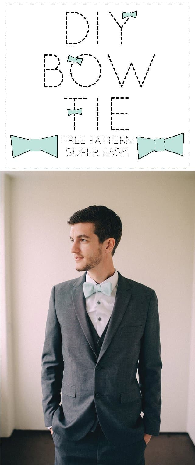 This is a graphic of Printable Bow Tie Pattern pertaining to step by step