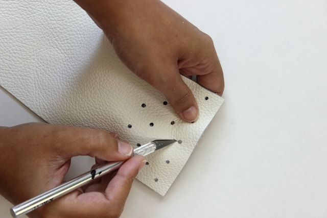 No-Sew Leather Glasses Pouch - Step 3