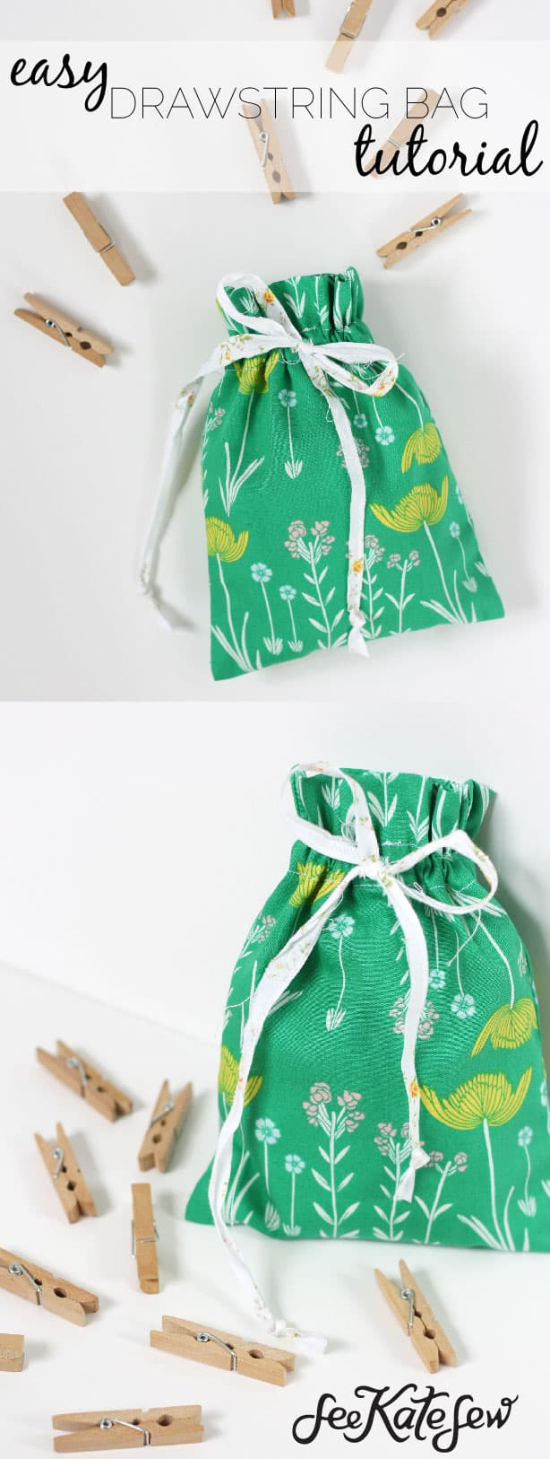 Easy Drawstring Bag | See Kate Sew