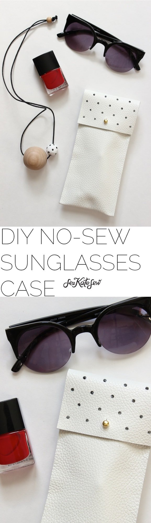 DIY No-Sew Sunglasses Case | See Kate Sew