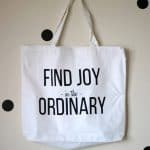 Find Joy in the Ordinary Screenprinted Tote Tutorial