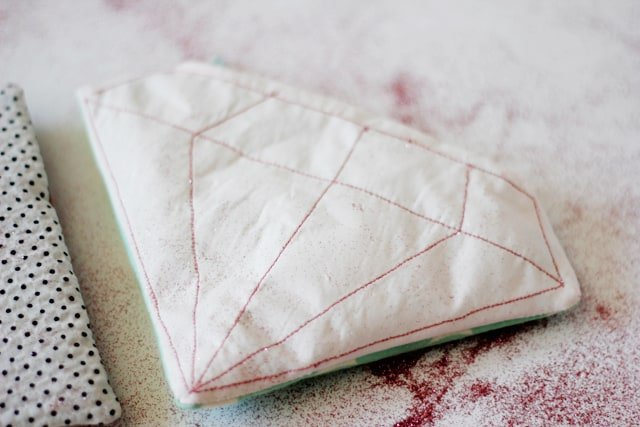 DIY gem pouches