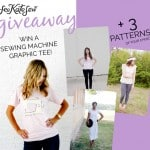GIVEAWAY! Win a Sewing Machine Tee + any 3 patterns!