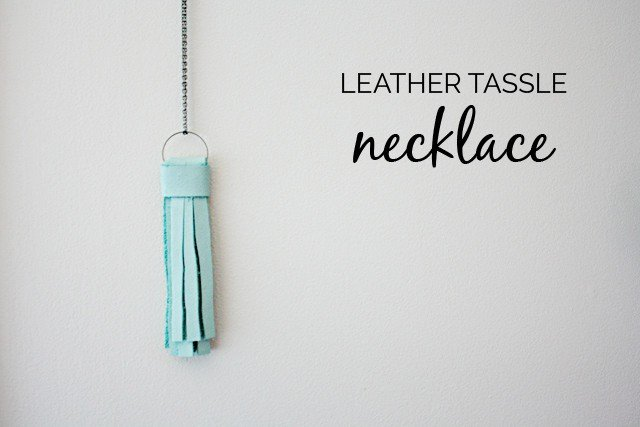 DIY tassle necklace