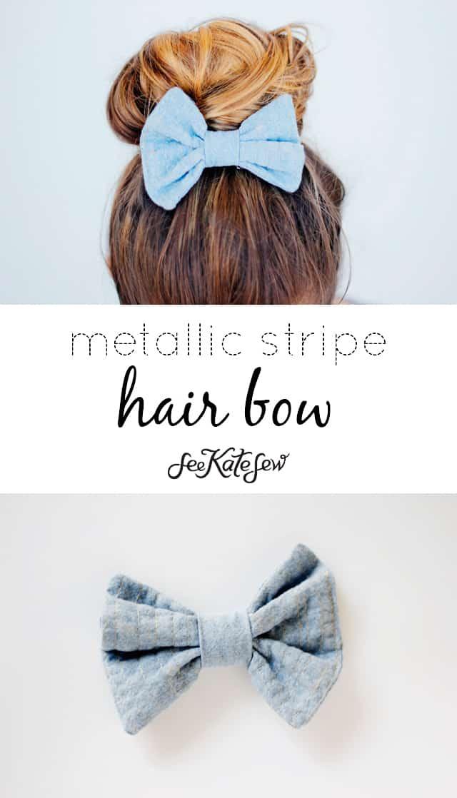 Metallic Stipe Fabric Technique