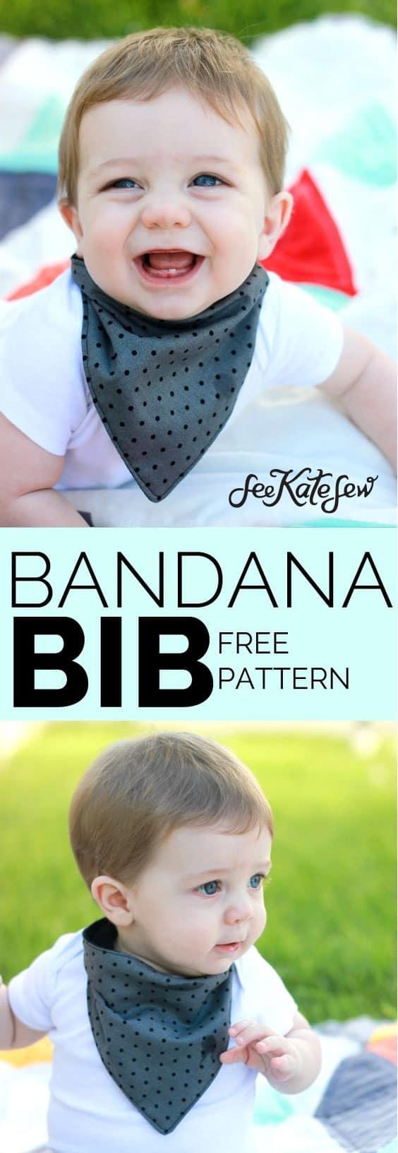 Bandana Bib Tutorial | See Kate Sew