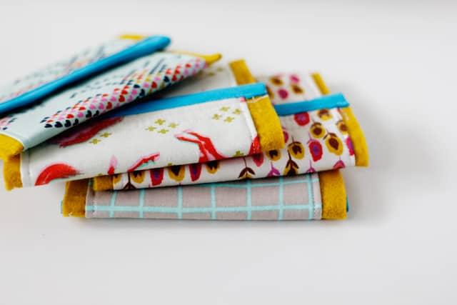 Cotton + Steel Wallet Tutorial Velcro Wallet Tutorial Sewing Pattern | DIY sewing wallet pattern