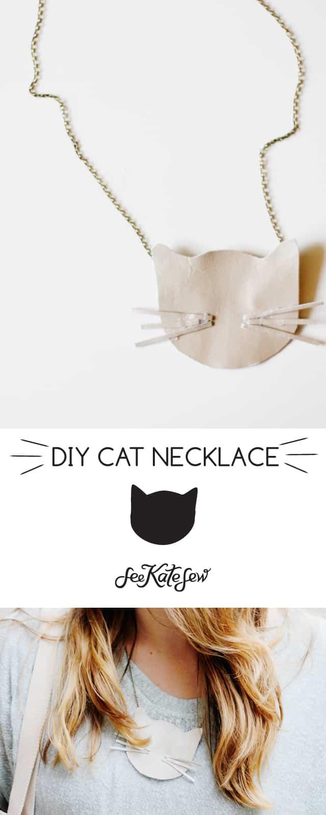 DIY cat necklace