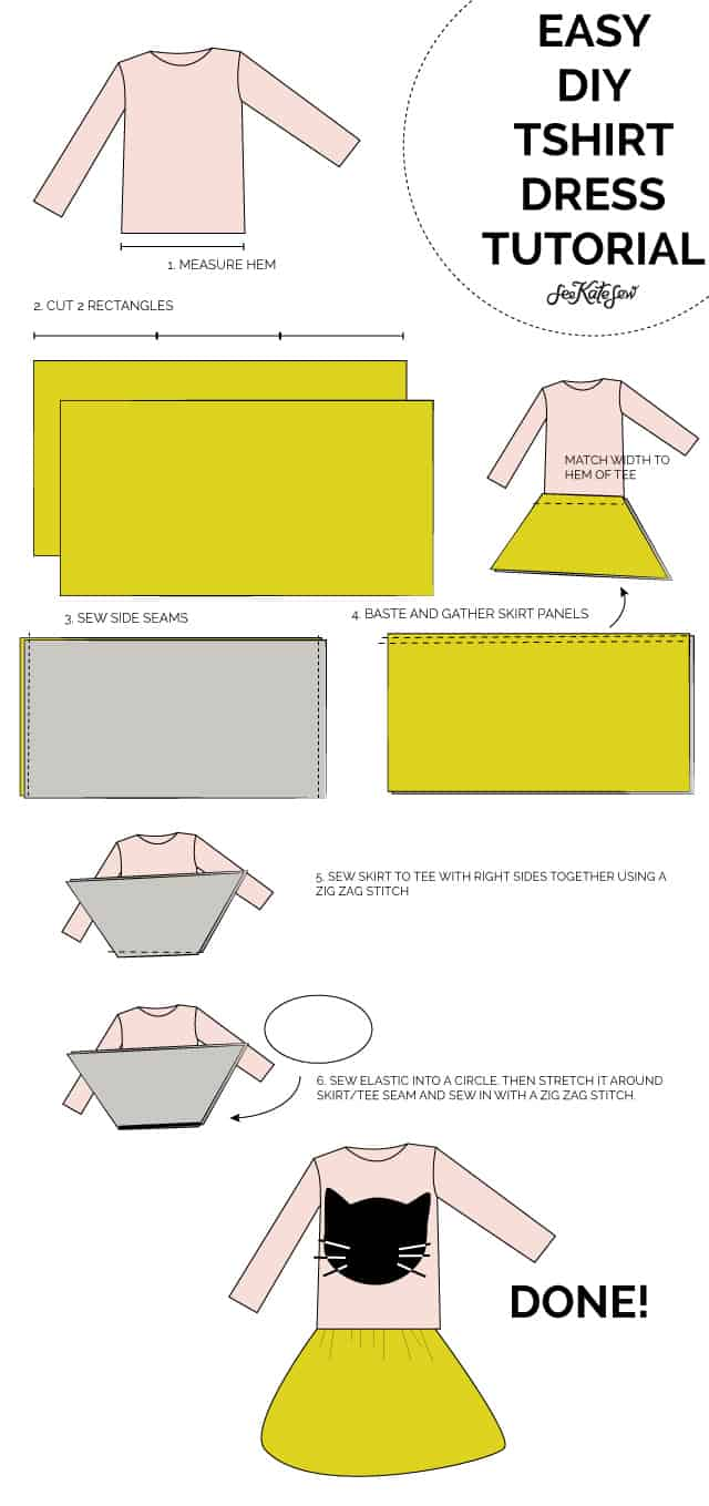 TSHIRT DRESS TUTORIAL