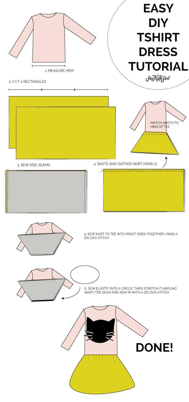 TSHIRT DRESS TUTORIAL