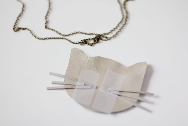 Leather Cat Necklace