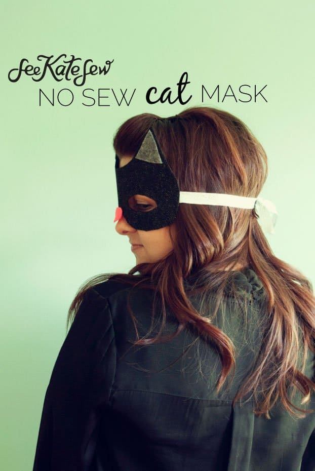 No Sew Cat Mask|See Kate Sew