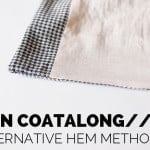 alternative hem finish for the ICON coat (bag the bagged lining!)