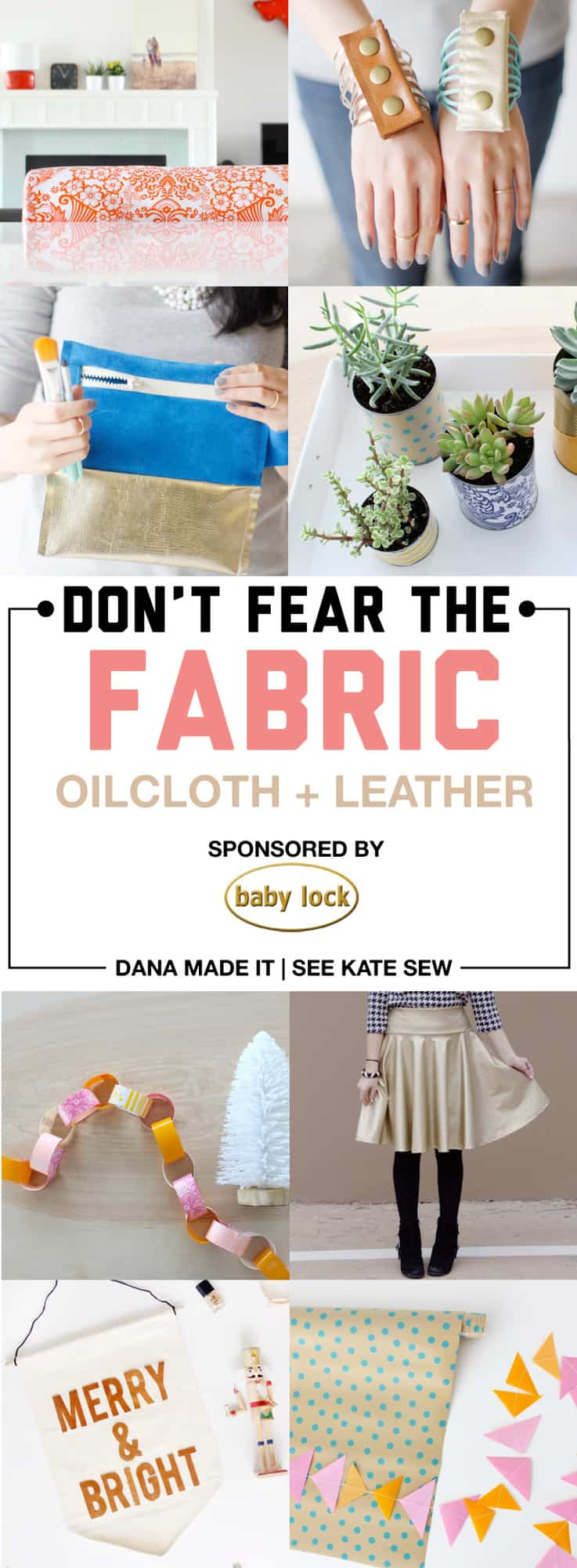 Learn to sew confidently with Oilcloth and Leather with this great series from MADE and See Kate Sew! Over 10 simple and useful projects to get you started!