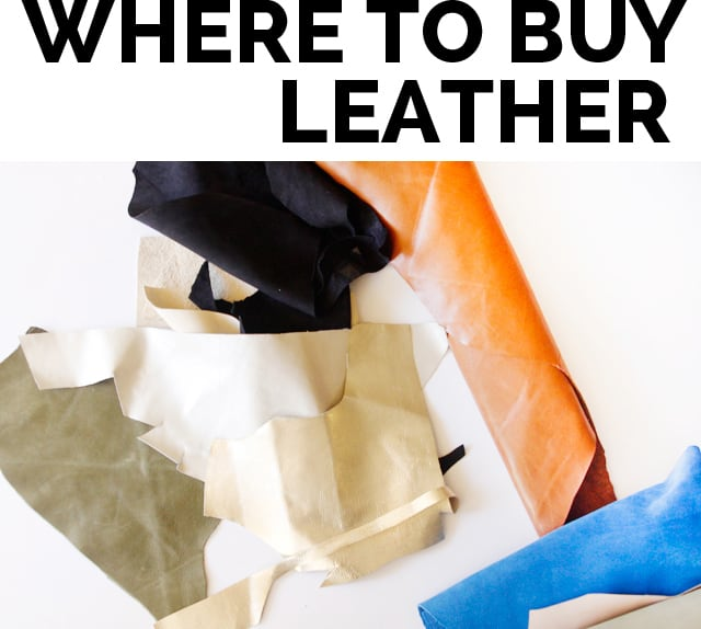 WHERE TO BUY LEATHER Tips for sewing with Leather + Where to buy Leather Fabric | See Kate Sew