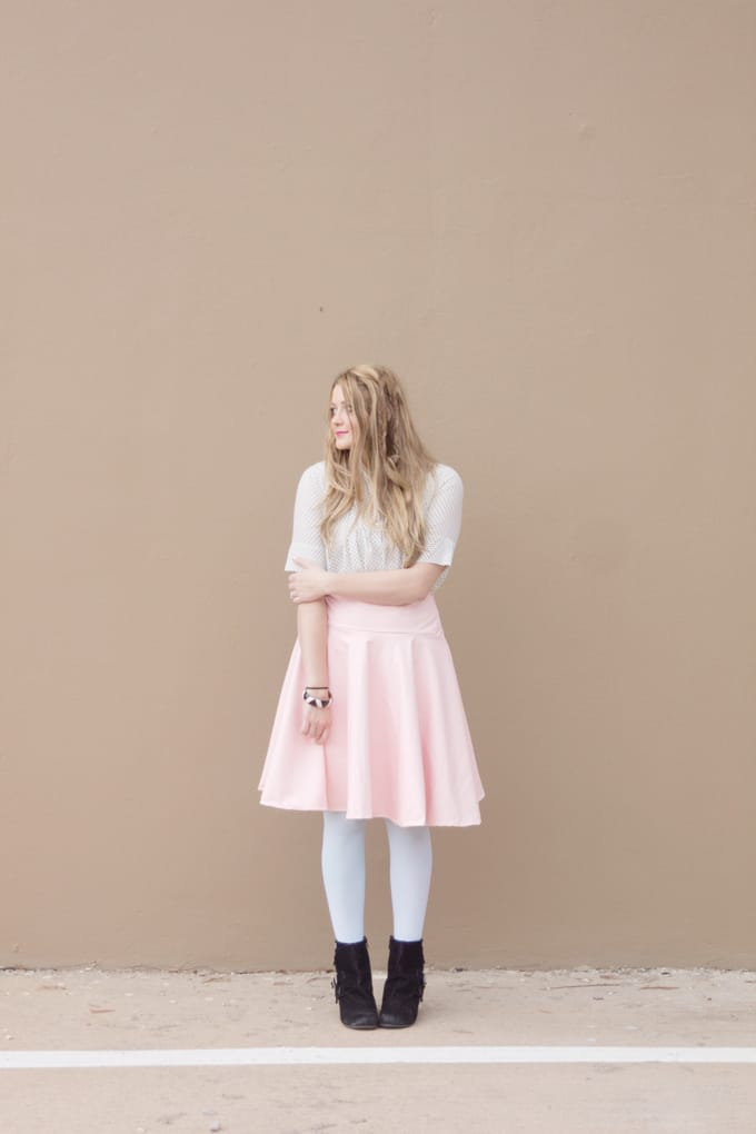DIY PLEATHER CIRCLE SKIRT TUTORIAL - see kate sew