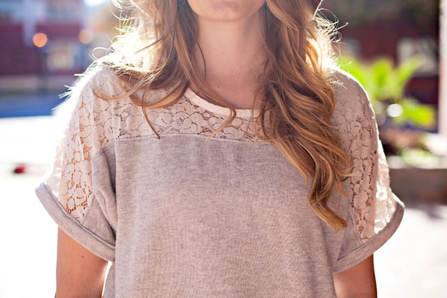 DIY Lace Yoke Top