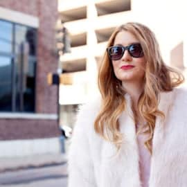 DIY oversized faur fur coat