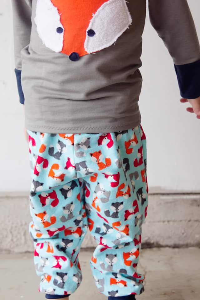 FOX PJS! // Boys Pajama Pants Pattern   Applique - see kate sew