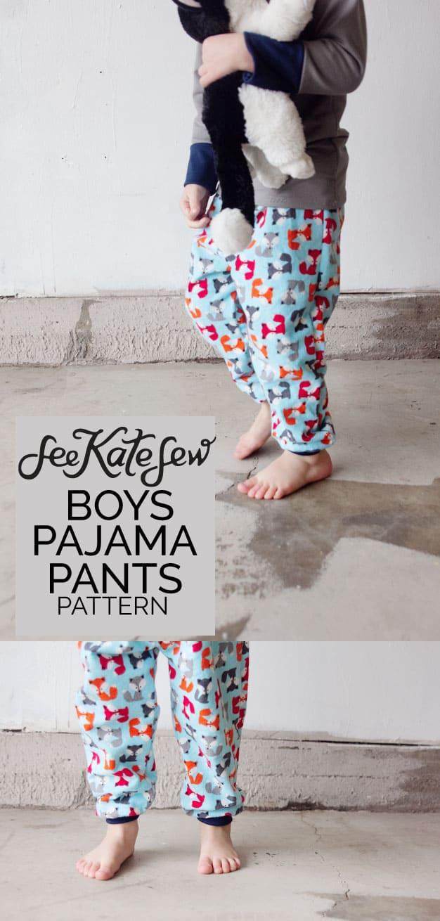 Boys Pajama Pants Pattern | See Kate Sew