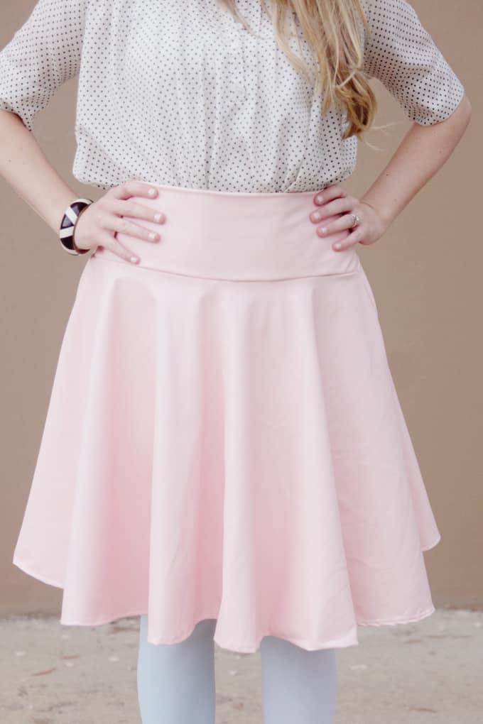 DIY pleather circle skirt pattern