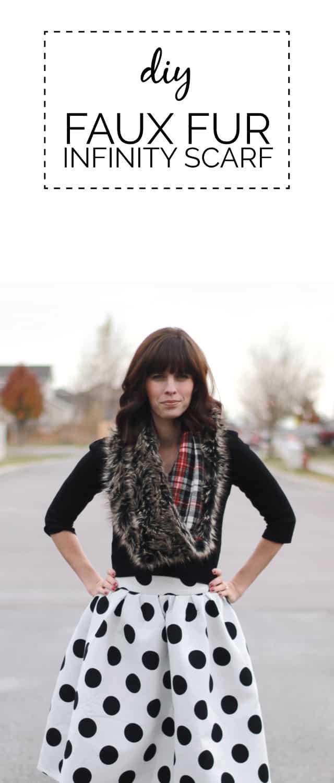 DIY faux fur infinity scarf//