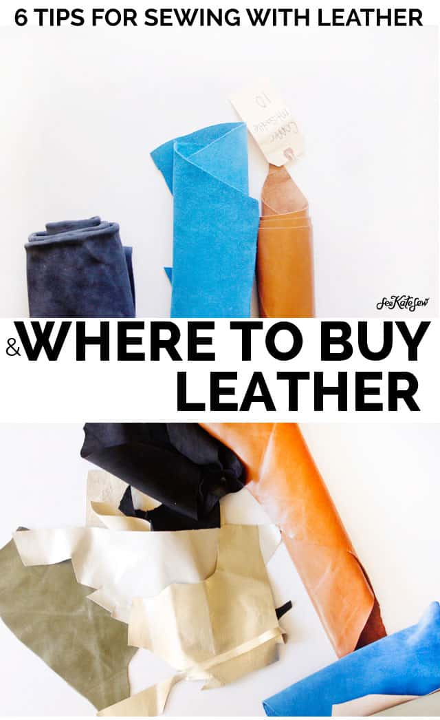 Sewing with Leather and Where to Buy it | See Kate Sew