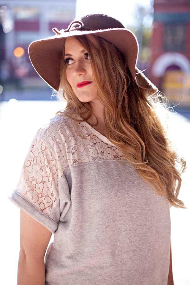 the DREAMER top lace hack see kate sew