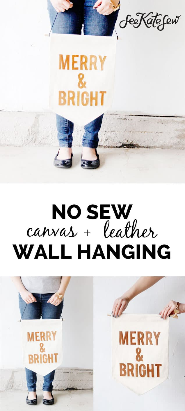 No Sew Leather Wall Hanging | See Kate Sew