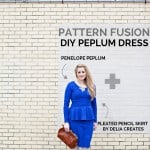 pattern fusion// DIY Peplum Dress