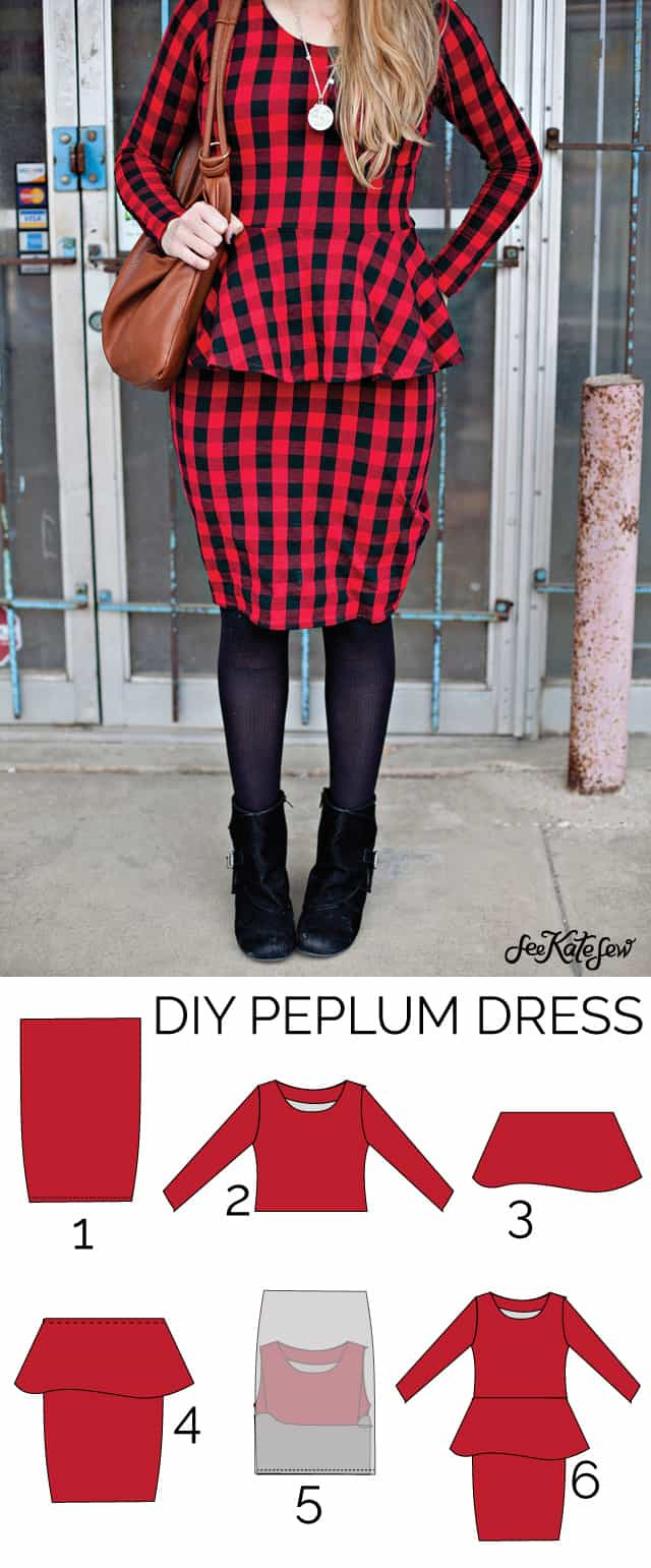 DIY peplum dress // seekatesew.com