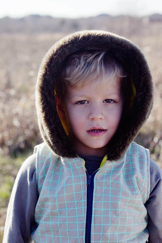 Aztec Hooded Vest | diy hooded vest for kids | handmade hoodie for kids | diy kids clothing || See Kate Sew #diyhoodie #kidsclothing #diyclothing