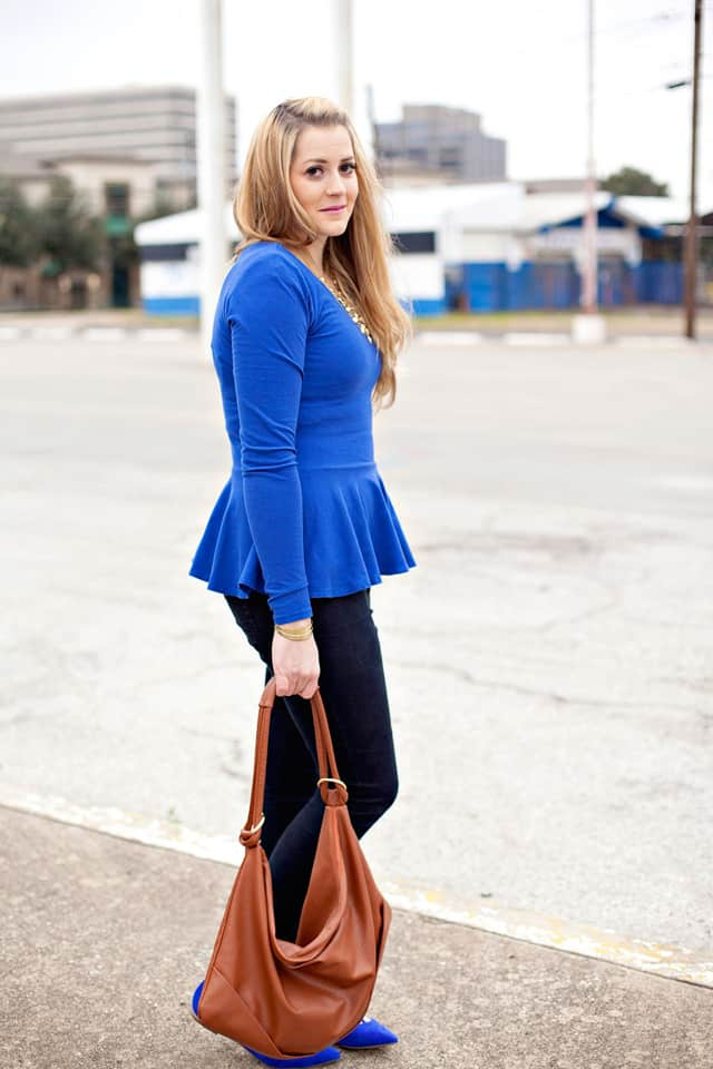 Peplum Dress. A peplum dress is a great wardrobe basic for a woman to keep in her closet. With this item as the starter for her outfit, she can then add her favorite accessories, such as shoes and jewelry, to complete a look that is uniquely her own.