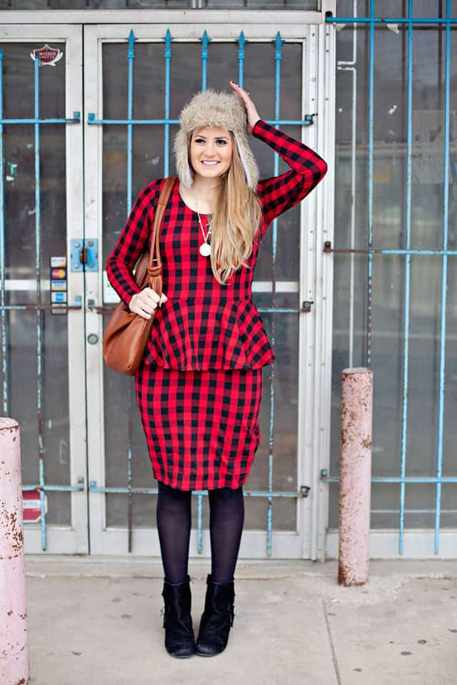 red-peplum-dress