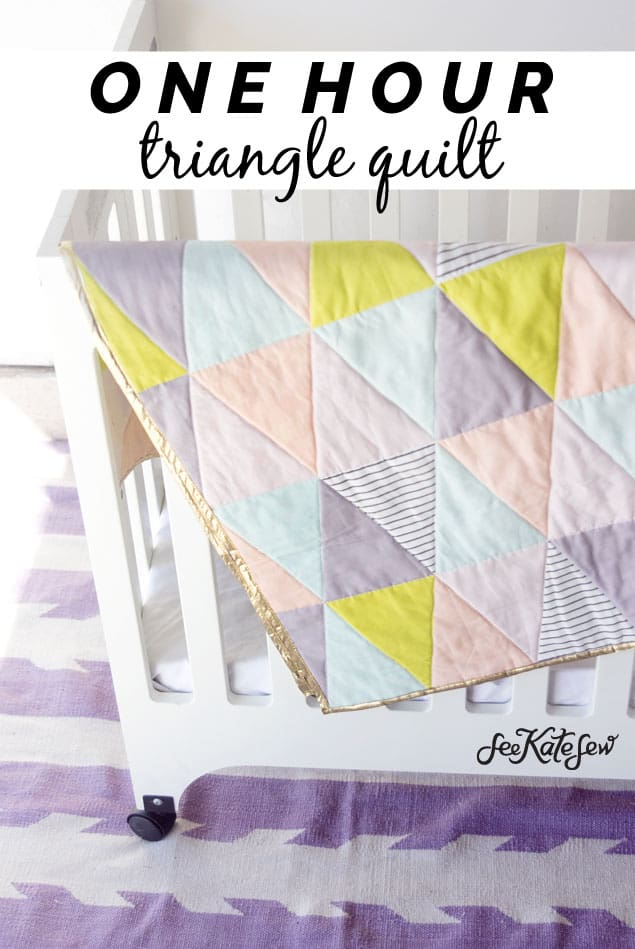 See Kate Sew|Triangle Quilt