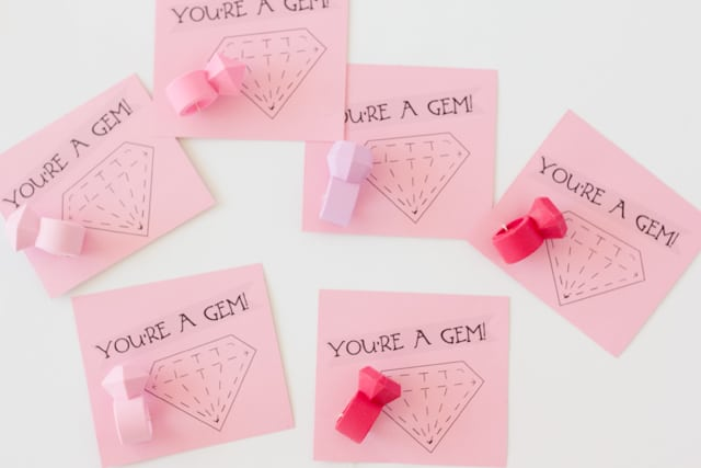 """You're a Gem"" Valentines"