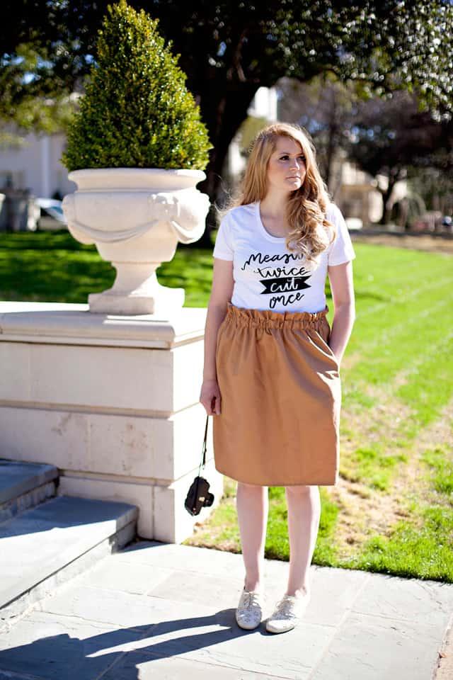 Paper Bag Skirt Tutorial | diy skirt tutorial | how to sew a paper bag skirt | diy clothing tutorial || See Kate Sew #paperbagskirt #diyskirt #sewingtutorial