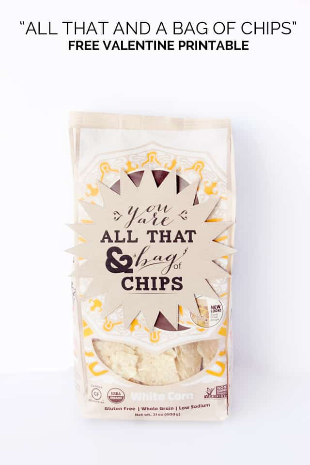 photo relating to You're All That and a Bag of Chips Free Printable named by yourself are all that and a bag of CHIPS! (printable valentine