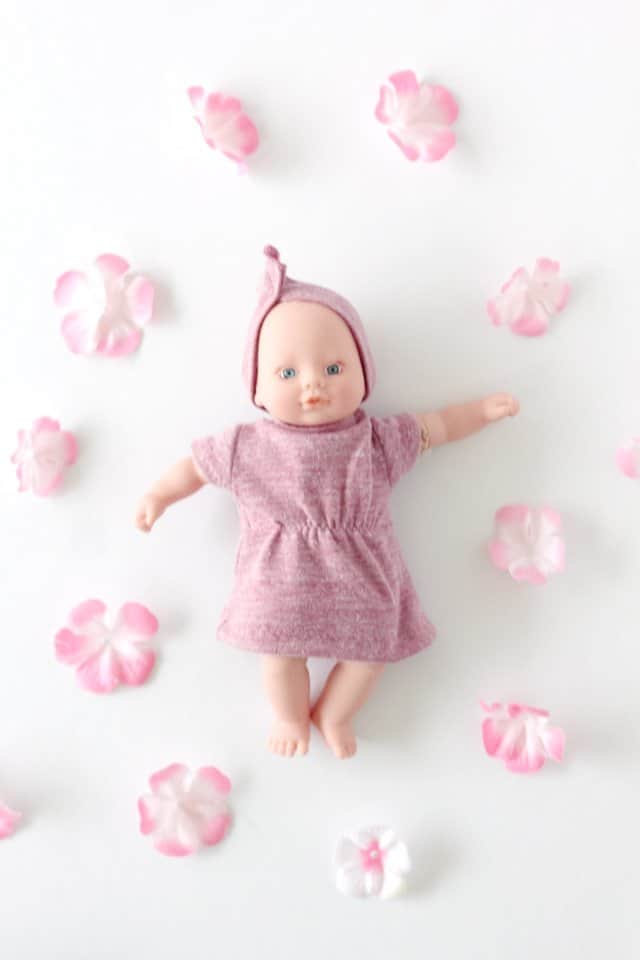 FREE mini baby doll dress and headband pattern