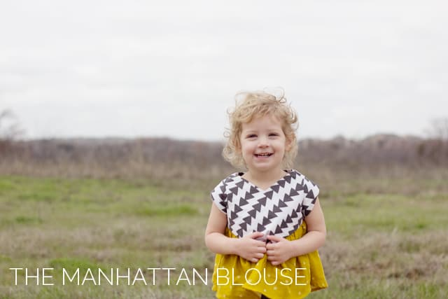 the Manhattan Blouse PDF Pattern