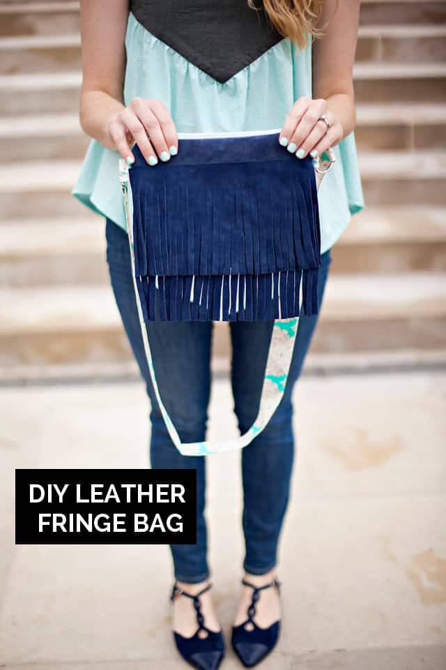 DIY Leather Fringe Bag | See Kate Sew