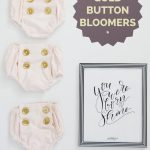 gold button bloomers tutorial