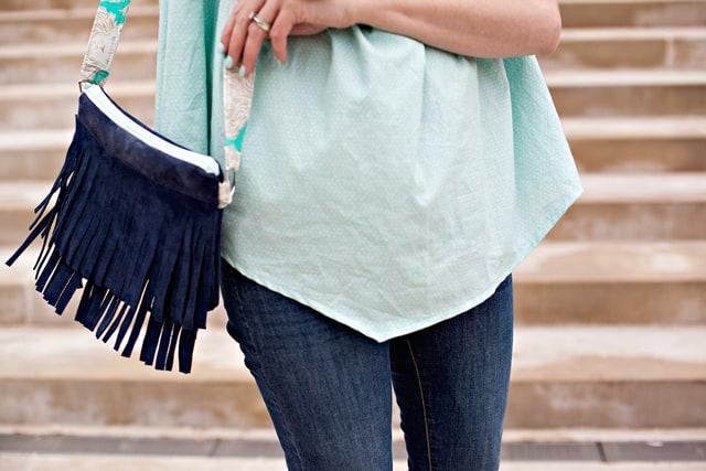 Leather Fringe Bag DIY | See Kate Sew