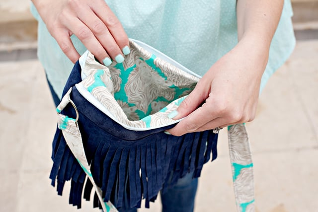 Leather Fringe Bag DIY | See Kate Sew