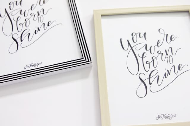 You Were Born to Shine Printable | See Kate Sew