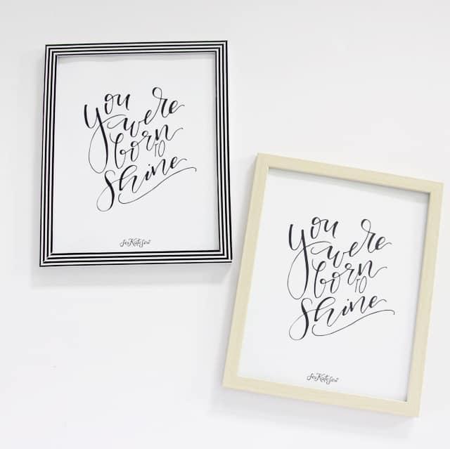 You Were Born to Shine Printable | free nursery decor | nursery printable ideas | free printables | diy nursery decor || See Kate Sew #freeprintable #nurserydecor #diynursery